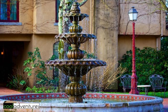 Fountain at Vintner's Inn, Sonoma County, California