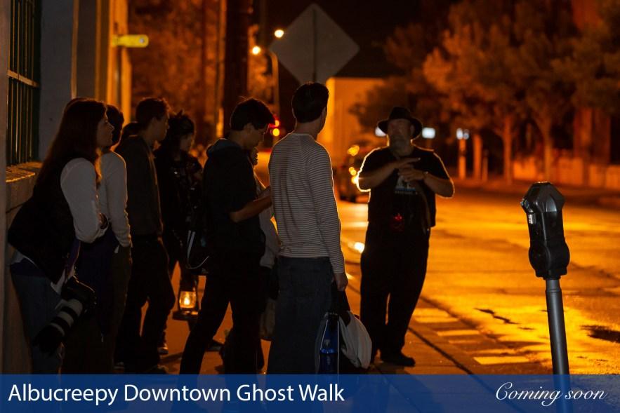 Albucreepy Downtown Ghost Walk photographs taken by Chasing Light Media