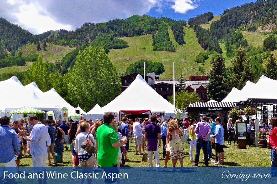 Food and Wine Classic Aspen photographs taken by Chasing Light Media