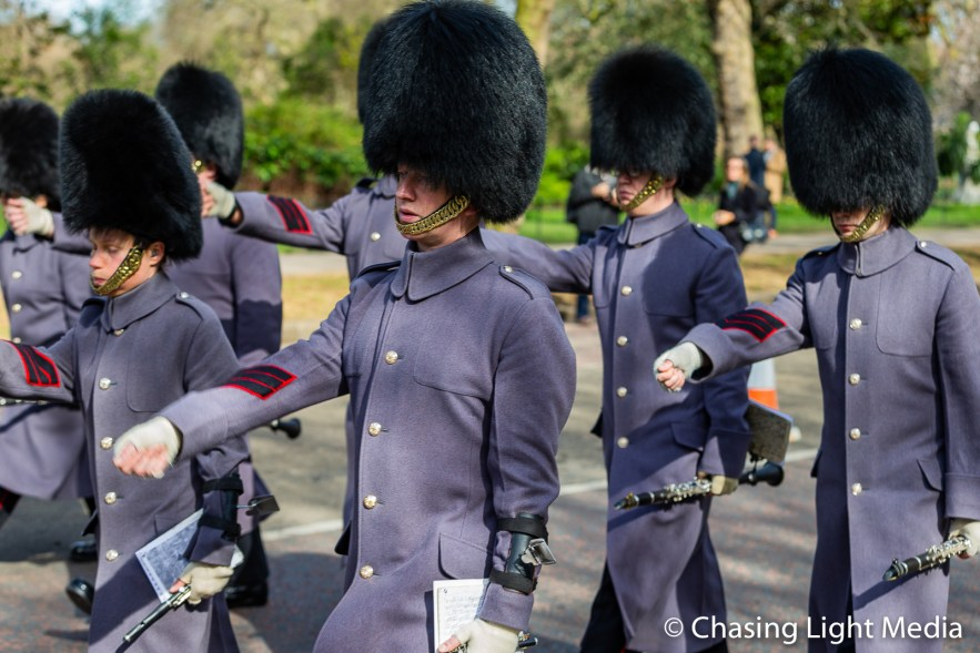 Queen's Guard Band, Buckingham Palace, London, England