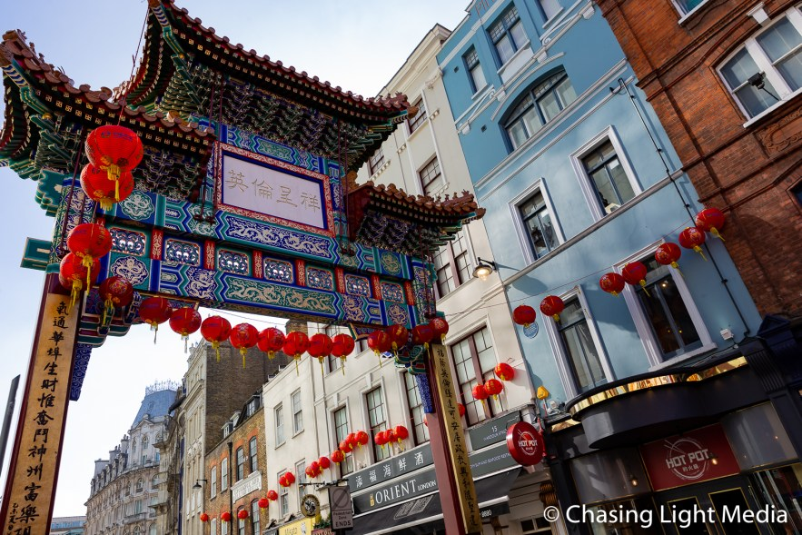 Chinatown gateway, Westminster, England