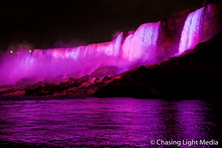 Sailing past American Falls aboard the Hornblower, Niagara Falls