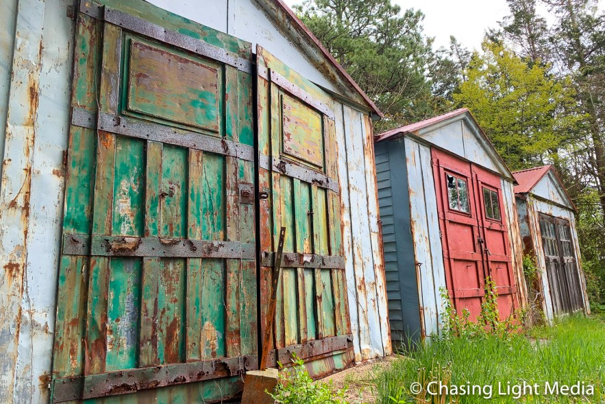 Colorful sheds, Plymouth, Massachusetts