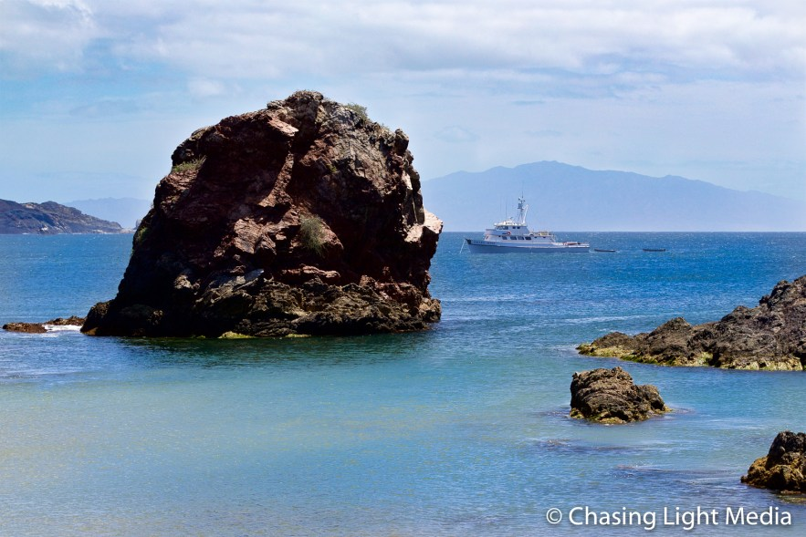 Searcher anchored off San Benito, Mexico