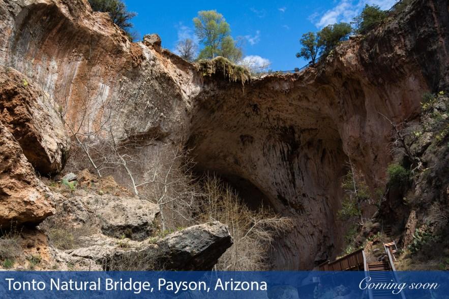 Tonto Natural Bridge, Payson, Arizona photographs taken by Chasing Light Media