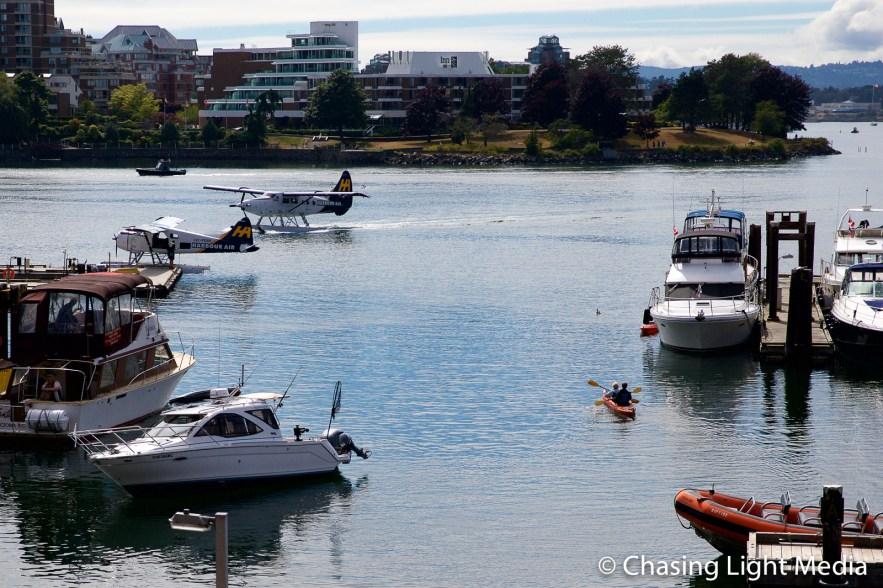 Seaplane landing, Victoria Harbour, Victoria, British Columbia