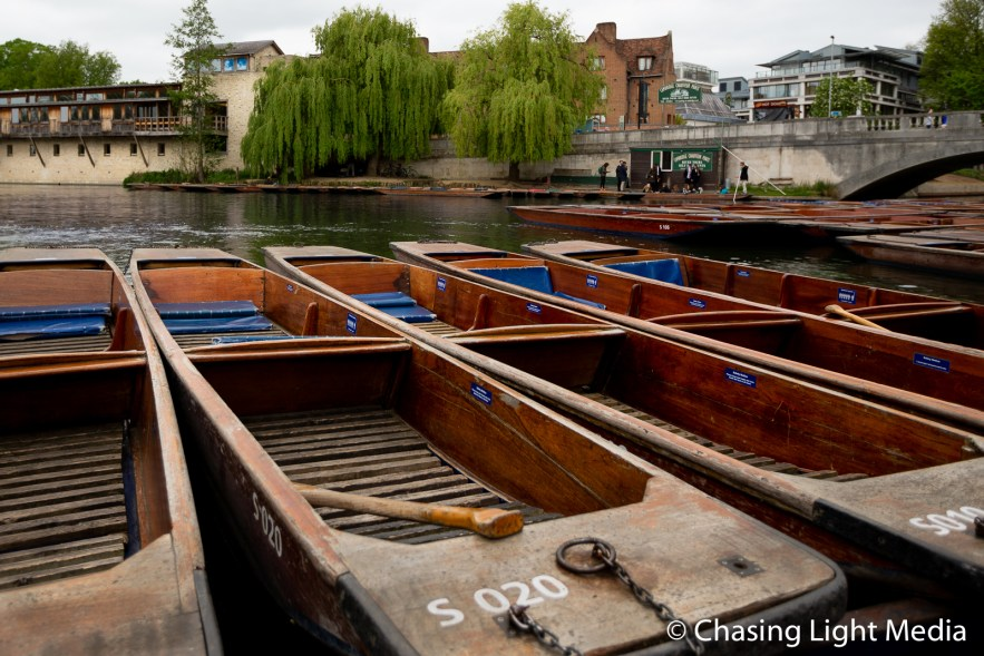 Punting station in Cambridge, England