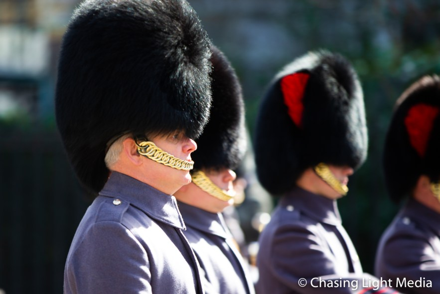 Members of the Queen's Guard, Buckingham Palace