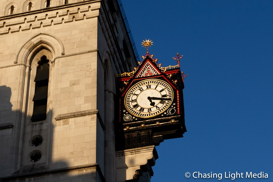 Large ornate clock in London
