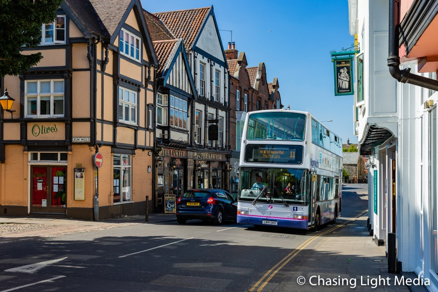 Local bus in Norwich, England