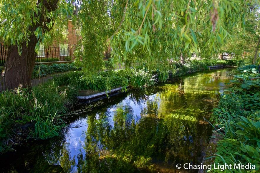 Water near Abbey Gardens, Winchester, England
