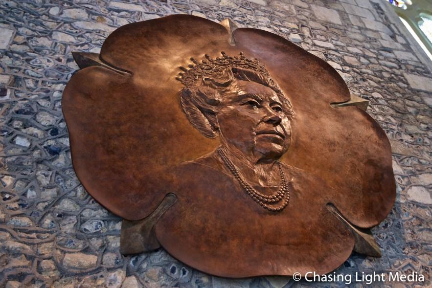 Bronze of Queen Elizabeth II at Winchester Castle, Winchester