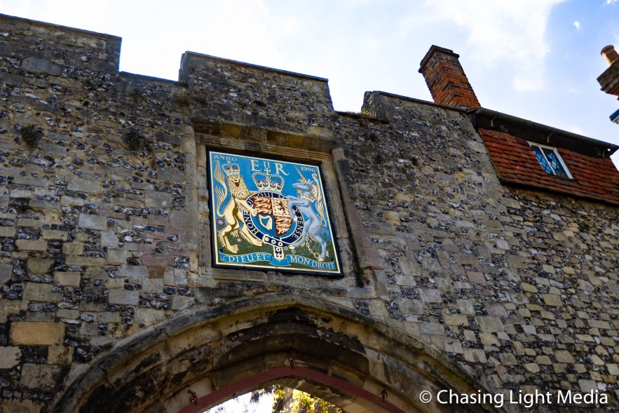 Gate to Winchester Castle, Winchester, England