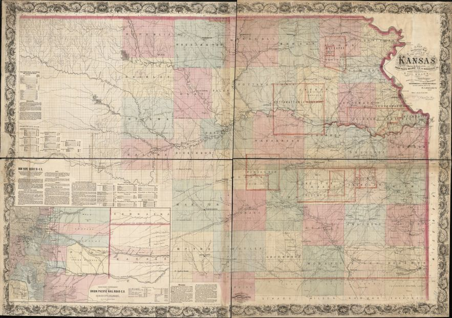 1867 Kansas map, Library of Congress, Geography and Map Division