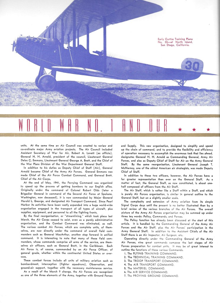 Independence Army Flying School 1943 Yearbook, World War No. 1 and Our Air Force Strength Grows