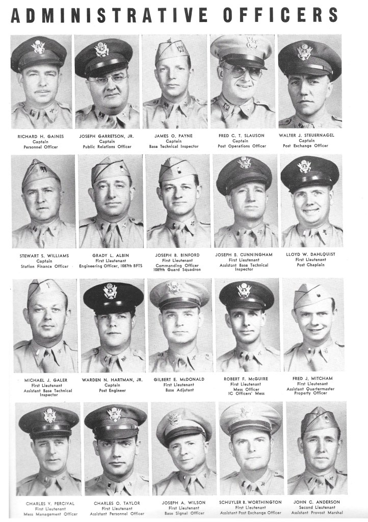 Independence Army Flying School 1943 Yearbook, Independence Army Air Field, Independence, Kansas ADMINISTRATIVE OFFICERS