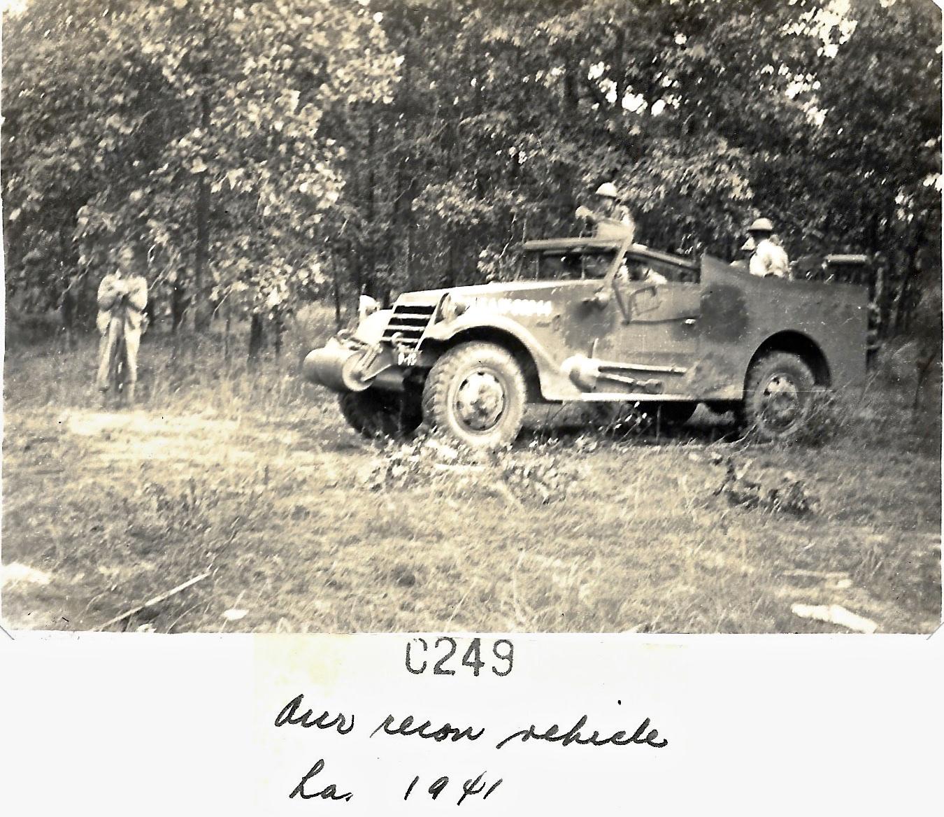 1941 Louisiana Maneuvers, Recon vehicle