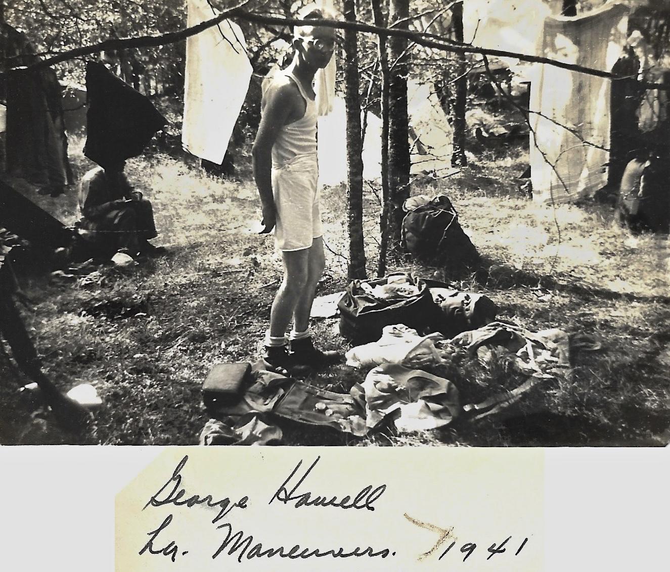 1941 WWII, George Howell, Louisiana Maneuvers