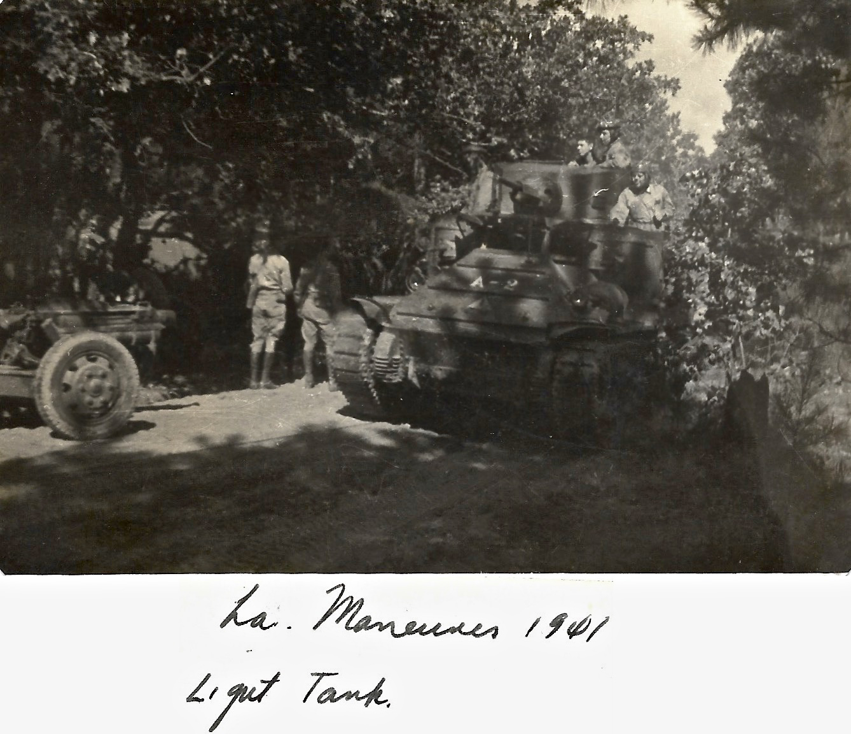 1941 WWII Louisiana Maneuvers, Light tank