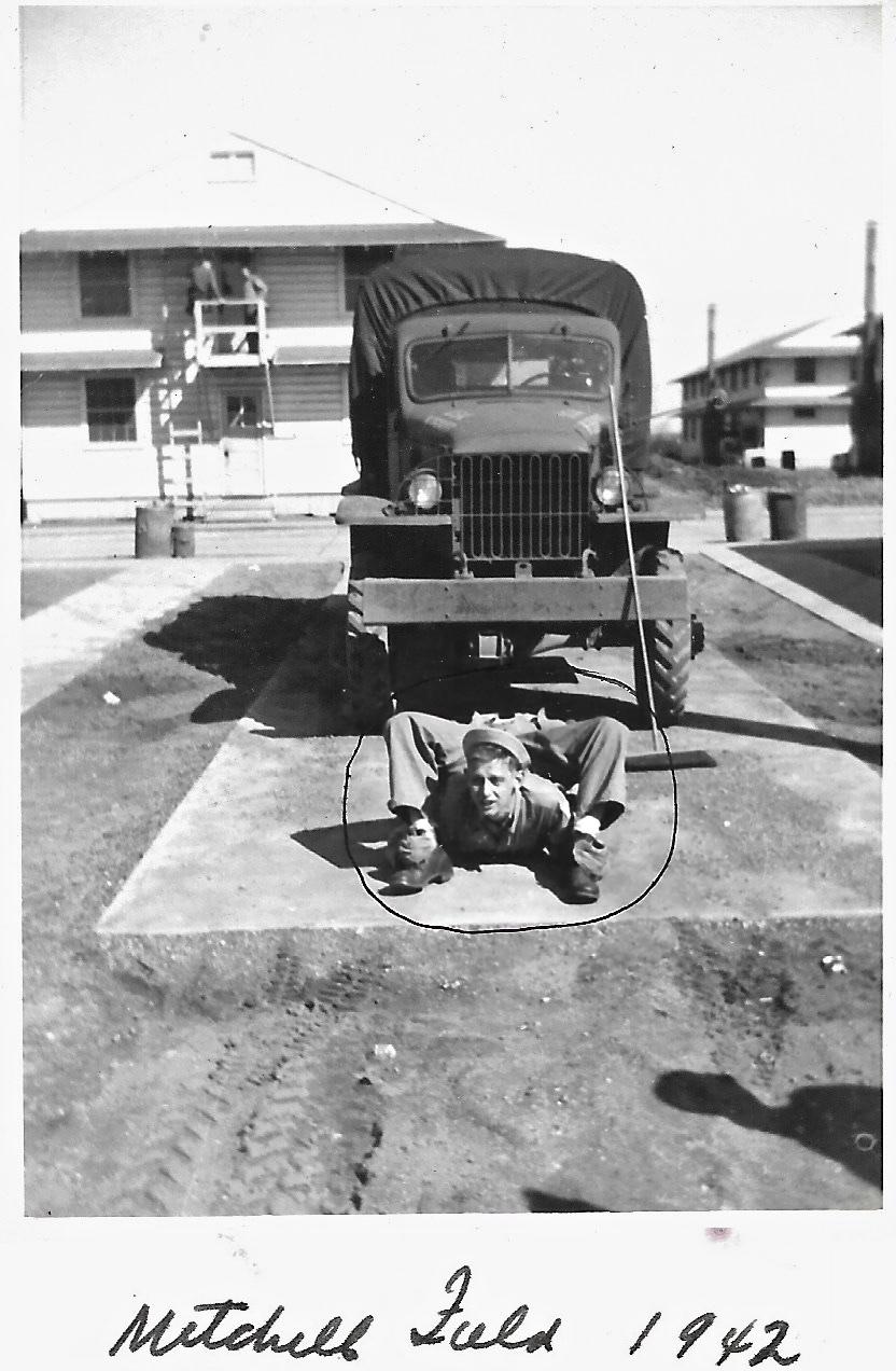 1942 WWII Ernie Faulkner, Mitchel Field, Long Island, New York