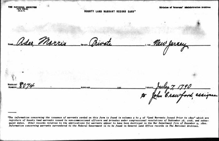 Morris Ader file, p. 12, Revolutionary War Pension and Bounty-Land Warrant Application Files