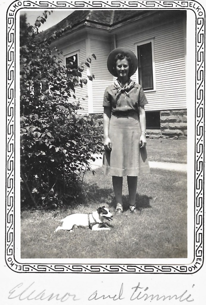 Eleanor Phillis Baird and Timmie the dog