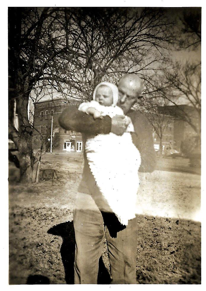 W. W. Phillis with grandson, Bob Faulkner. Independence, Kansas.