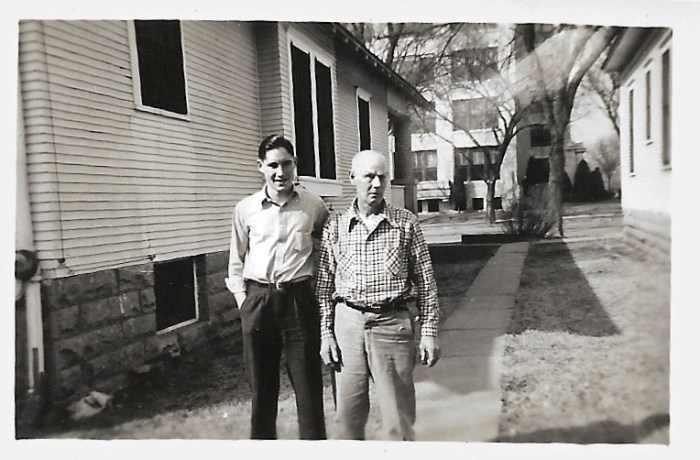 W. W. Phillis, on right, and unknown person in Independence, Kansas