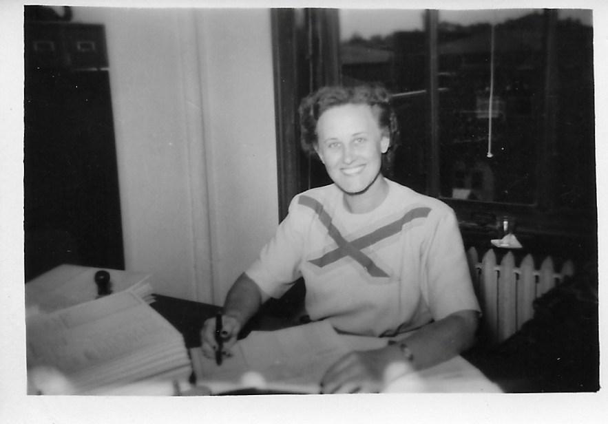 Eleanor Baird working, ca 1950