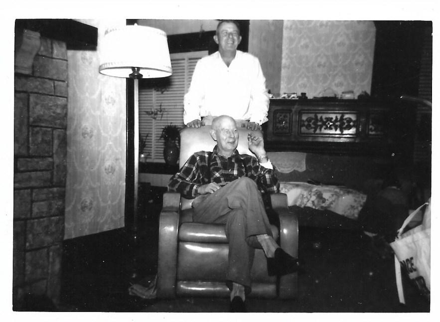 William Phillis and son-in-law, Hanley Baird, ca. 1950s