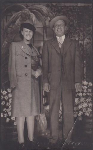 Eleanor Marie Phillis Baird and Hanley Solease Baird, ca. 1955