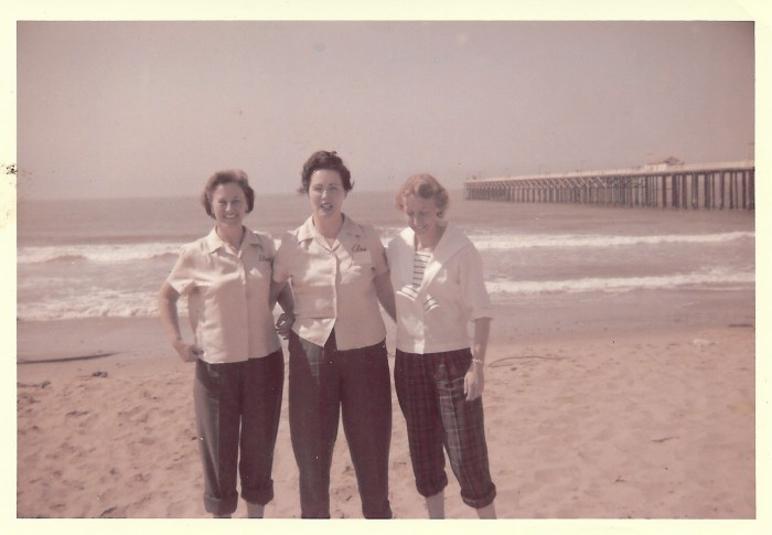 Eleanor Baird and friends, California, 1958
