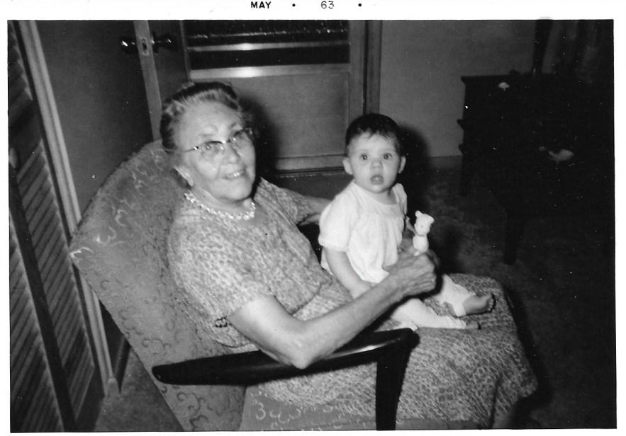Myrtle Phillis and Kimberli Faulkner, May 1963, Independence, Kan