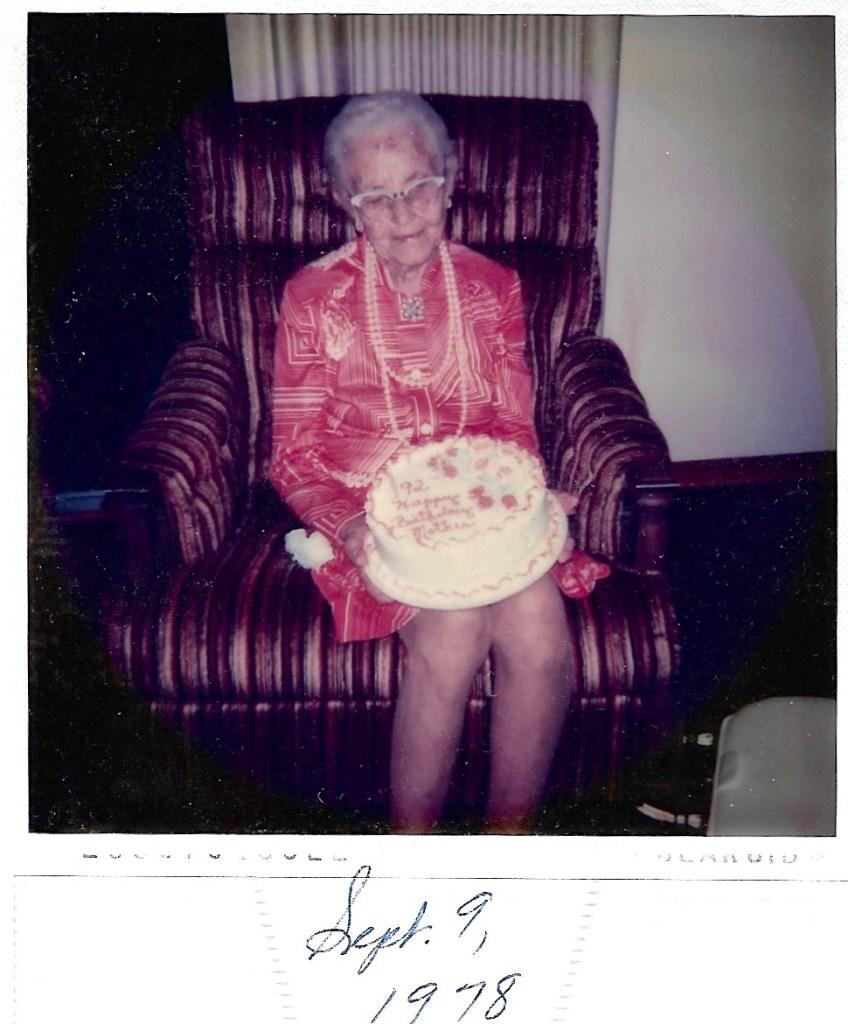 Myrtle Hooper Phillis' 92nd birthday, 9 Sept 1978