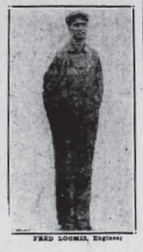 """Scranton Victims in Wreck,"" Fred Loomis photograph, The Tribune (Scranton, Pennsylvania), 17 Jun 1925, p. 14, col. 5."