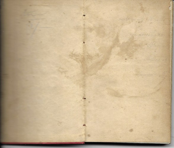 """Ann M. Hull, """"Diary of 1857,"""" (Susquehanna County, Pennsylvania), inside cover, privately held by Faulkner-Hull Collection."""