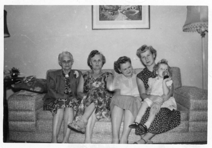 Mary Rogers, Sylvia Thacker, Hazel Eleanor Bradshaw, Nancy Rober
