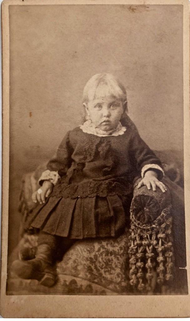 Myrtle Ivy Hooper at age 3, ca 1889