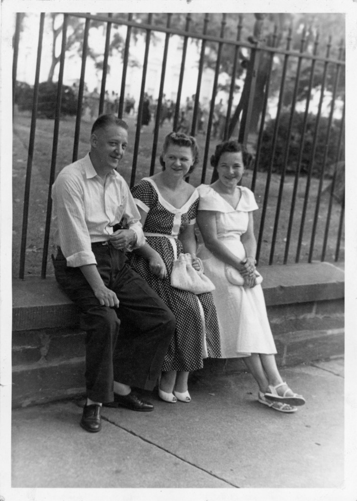 Phil and Hazel Faulkner and unknown person, ca 1950s, Chicago, I