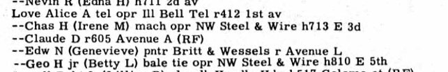 R. L. Polk, compiler, Sterling, Illinois, City Directory Sterling, Rock Falls and Morrison, R. L. Polk Directory Co., 1952), George H. Love, Jr. and Betty L., p. 103