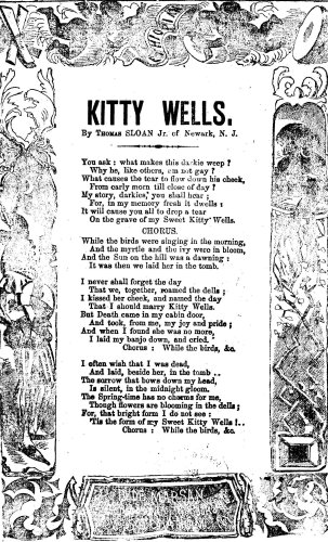 """Thomoas Sloan, Jr., """"Kitty Wells,"""" lyrics; Library of Congress, American Song Sheets Library of Congress Rare Books and Special Collections."""