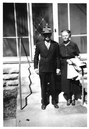 W. W. and Myrtle Phillis, ca. 1953, Independence, Kansas.