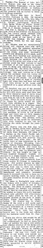 """John Barney Hunter,"" obituary, Illinois State Journal (Springfield, Illinois), 6 Jan 1911, p. 9, col. 2."