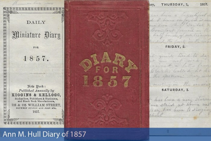 Ann M. Hull Diary of 1857
