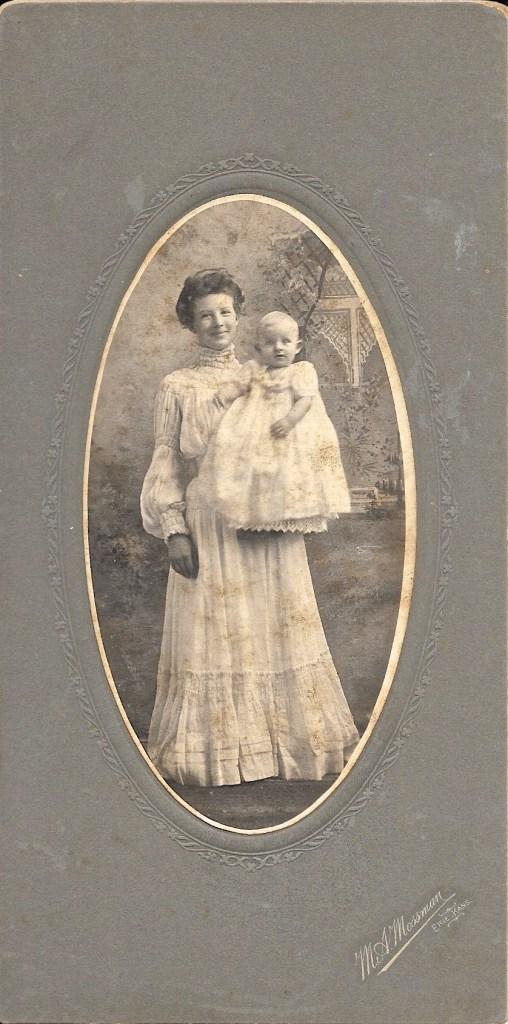 """Estelle Dora """"Stella"""" Allen and Hanley Solease Baird, ca. 1904, location unknown. Privately held by Kimberli Faulkner Hull, niece of Eleanor Phillis Baird, wife of Hanley Baird. Hanley was the son of Stella Allen Baird."""