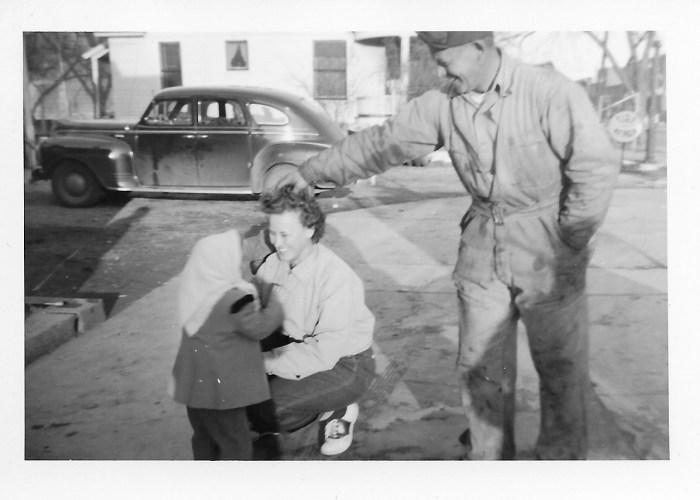Hanley and Eleanor Baird with Karen Faulkner, ca. 1948