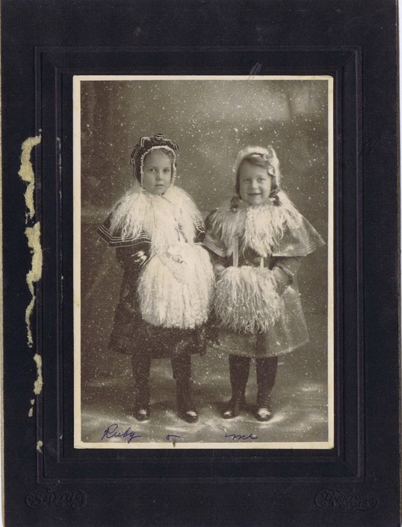 Ruby Hooper and her cousin, Winifred L Hooper