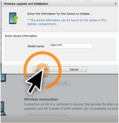 Enter Device Information