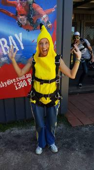 skydiving banana