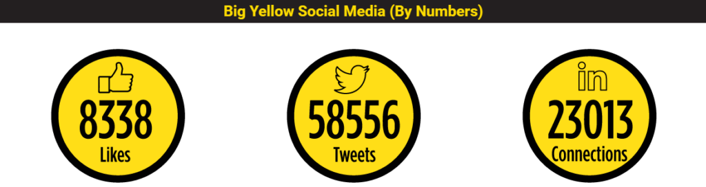 CoolBison image of social shares, tweets, likes and follows for our Bristol clients